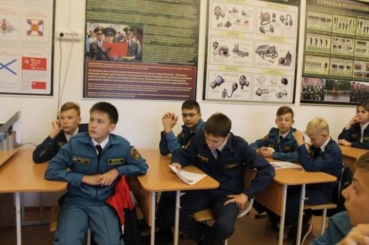 Урок по «Основам безопасности жизнедеятельности» прошел в Комсомольской школе