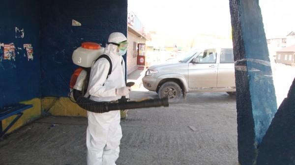 В Кунгурском районе проводят дезинфекционные мероприятия по профилактике коронавируса