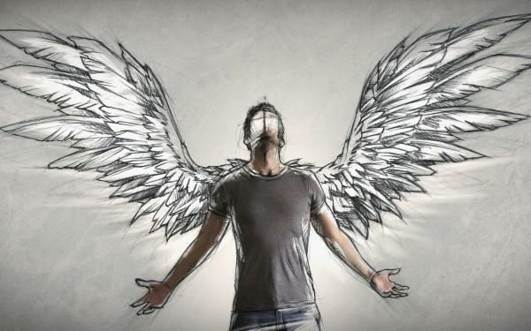 Люди с крыльями.